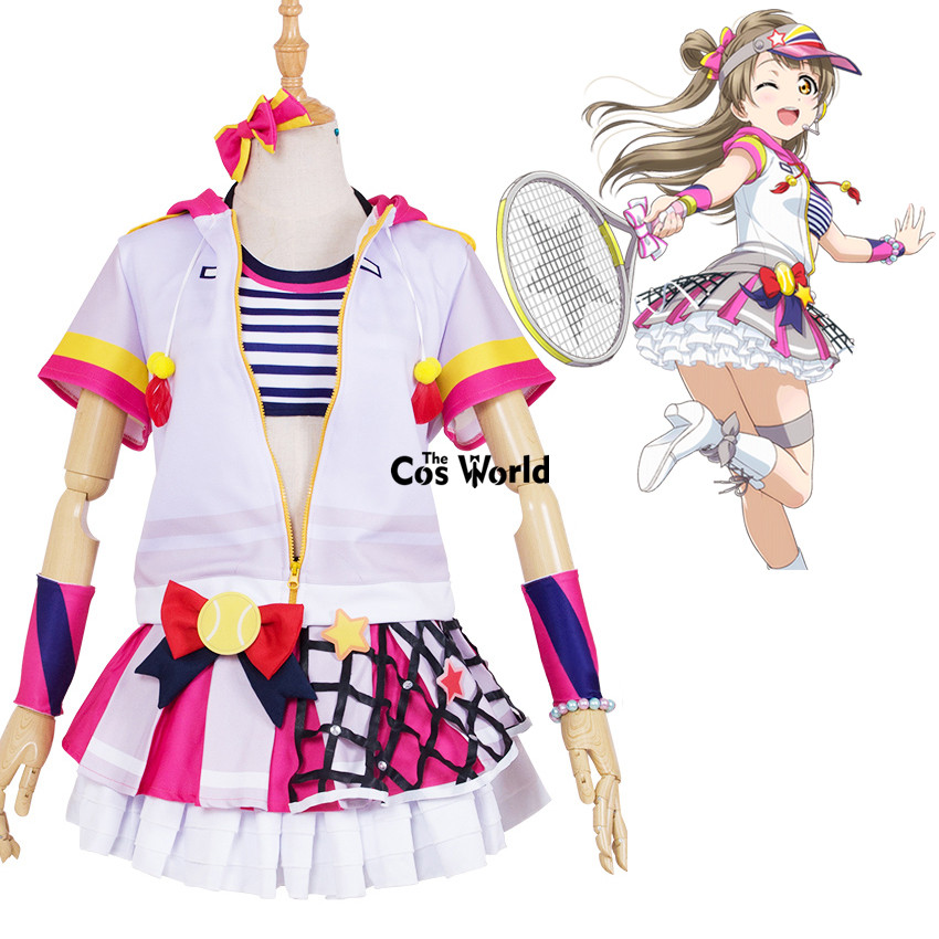 Love Live School Idol Project Kotori Minami Tennis Boob Tube Tops Hoody Coat Dress Uniform Outfit Anime Cosplay Costumes