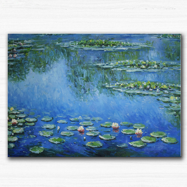 Lotus Flower Wall Art aliexpress : buy hand painted canvas oil paintings lotus