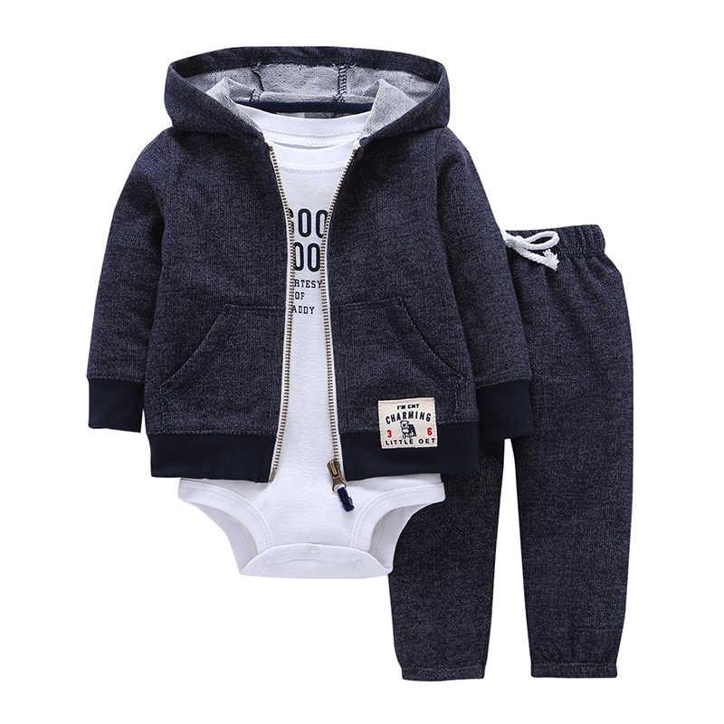 dc1bf3f73 Комплект одежды для маленьких мальчиков и девочек, хлопковая куртка с  капюшоном и длинными рукавами +