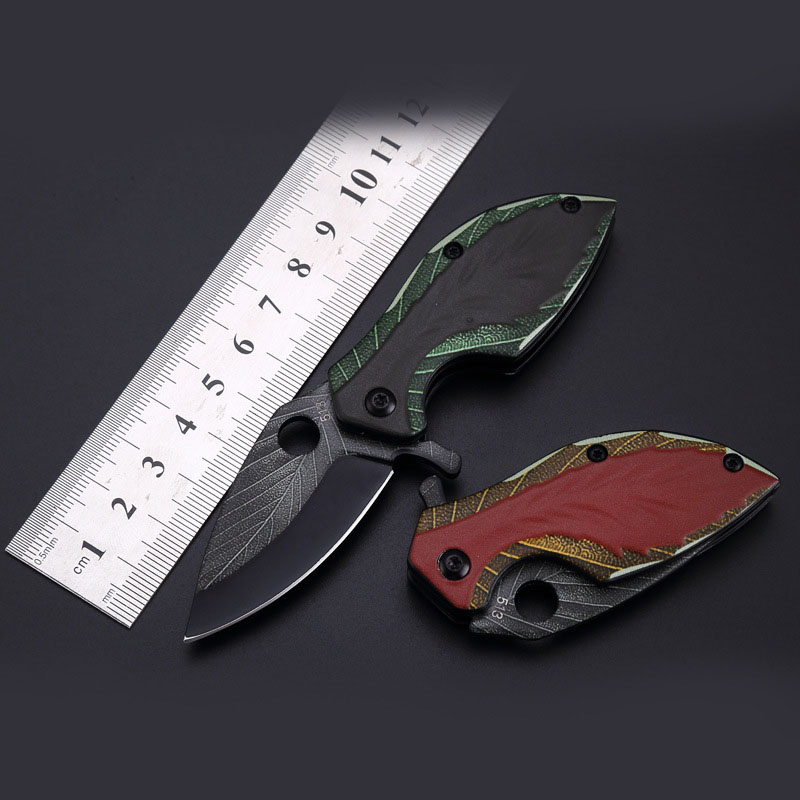 440 Stainless Steel Folding Leaf  Knife Multi-function Knife Outdoor Camping Cutting Tool 3D Printing Technology Dropshipping