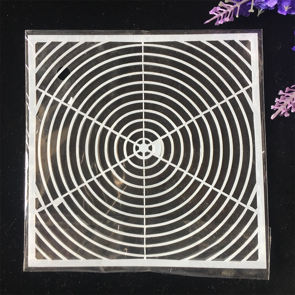 1Pcs 13cm Geometry Round DIY Craft Layering Stencils Wall Painting Scrapbooking Stamping Embossing Album Card Template