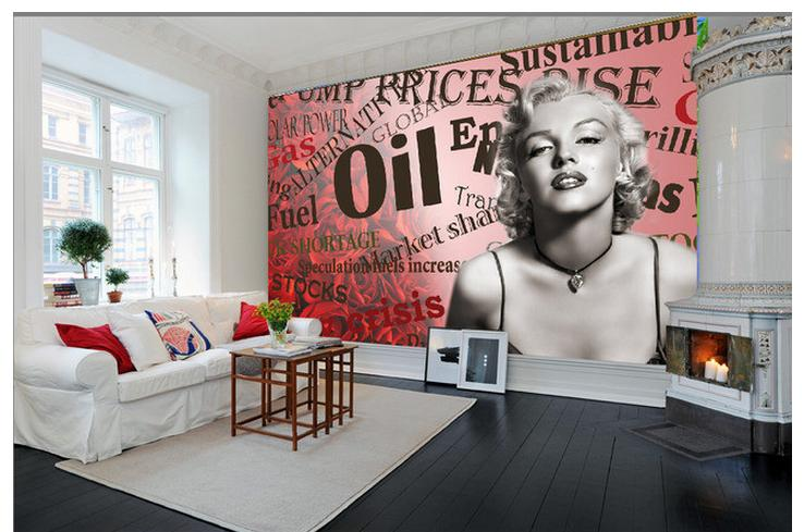 ... Wonderful Marilyn Monroe Wall Mural Part 6 Customized 3d Wallpaper 3d Wall  Murals Wallpaper ... Part 7