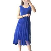 2017 Hot New Women Vest Cotton Lace Casual Ball Gown Sundress Summer Maxi Long Beach Tank