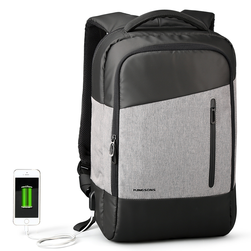 Kingsons 2017 New Phone Usb Sucking Backpacks Daily Casual Daypacks Travel Backpack Suit for Teenager Business Men Student цена 2017