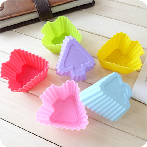 6pcs/lot Silicone Cupcake Liners Mold Muffin Cases Muti Round Shape Cup Cake Tools Bakeware Baking Pastry Tools Cake Mold