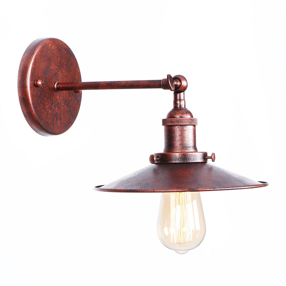 Antique Vintage LED Wall Lamp Beside Living Room Rust Iron Loft Industrial Wall Lights H ...