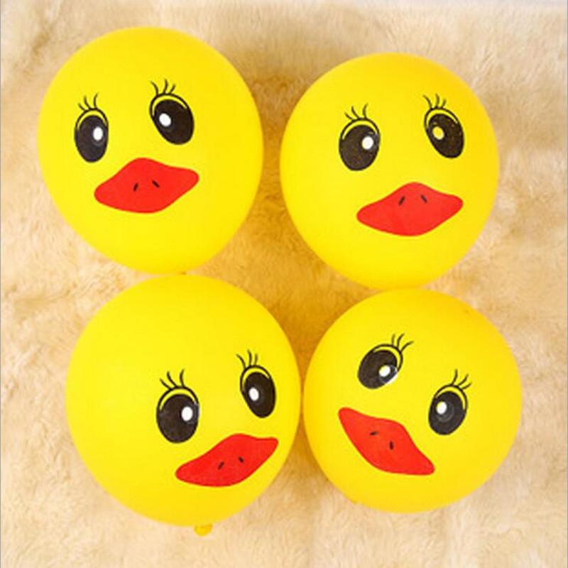 50pcs /lot 2.8 grams duck balloon yellow color balloons festival birthday party