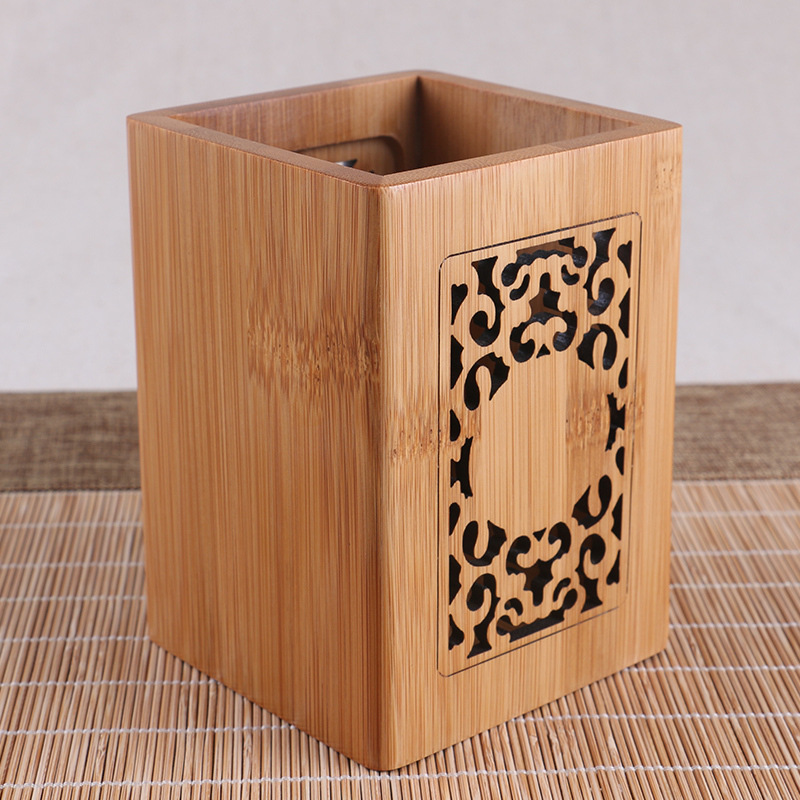 Wood Pencils Holder Office Decoration Storage Box For Bulk Products Carving Container Sundries Desktop Organizer Vintage Gift