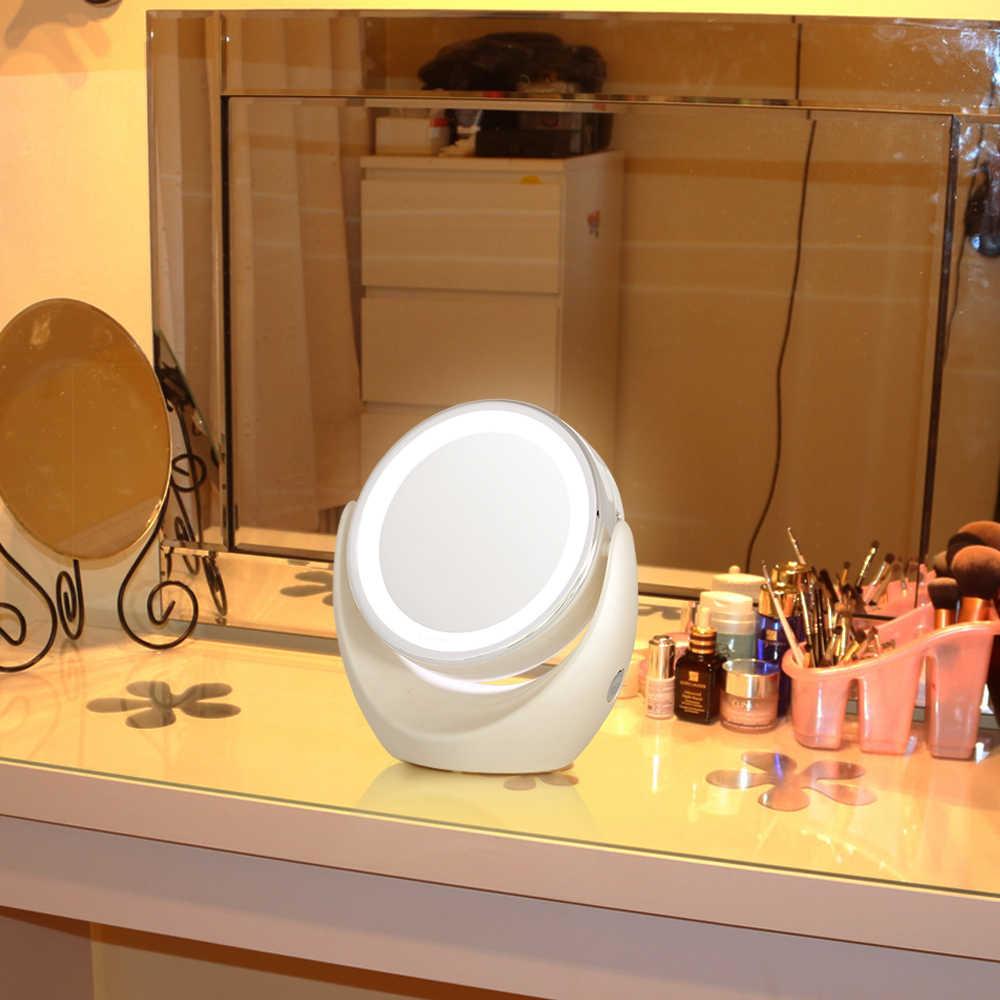 TOUCHBeauty Led Licht Make-Up Spiegel, 360 Rotary Ausgezeichnete Beleuchtung Dual-seite 1x und 5x Hohe Klare Kosmetische Spiegel TB-0678