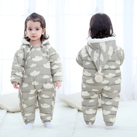 Baby Rompers Winter Boys Costume Down Cotton Girls Warm Infant Snowsuit Kid Jumpsuit Children Outerwear Baby Wear Thick LJ122