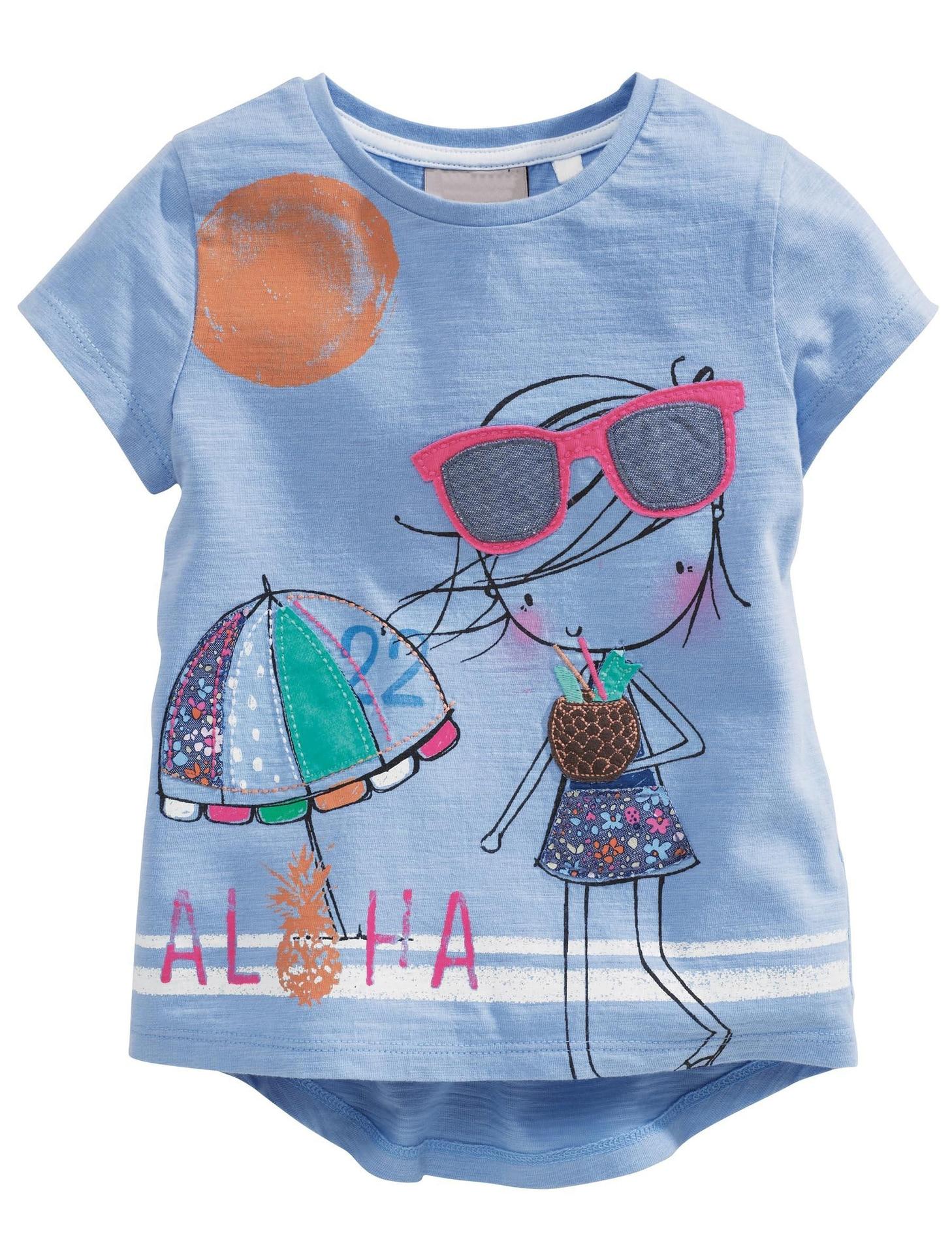 82a08bd9ce33 Dropwow Brand Summer Girls T-shirts Cartoon Short-sleeved Girl Tops ...