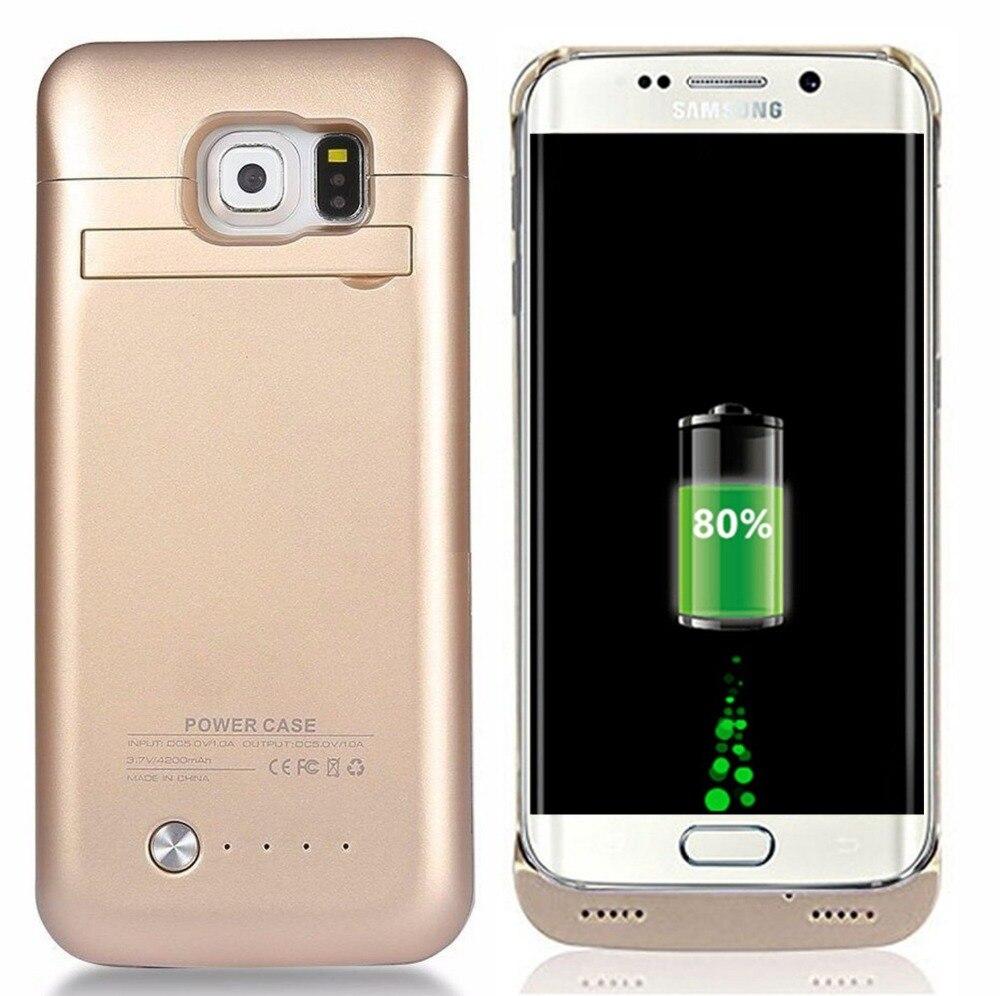 Цена за Высокое качество 4200 мАч Внешнее зарядное устройство Power Bank Чехлы для Samsung Galaxy S6/Galaxy S6 край аккумулятор Чехол