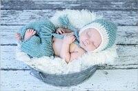 2015 New 1 Set Retail Cotton Newborn Photography Props Costume Hand Crochet Knit Infant Baby Hat