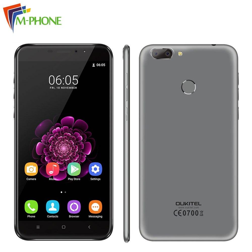 Original Oukitel U20 Plus Mobile Phone 4G LTE Android 6 0 Smartphone MTK6737T Quad Core 2GB