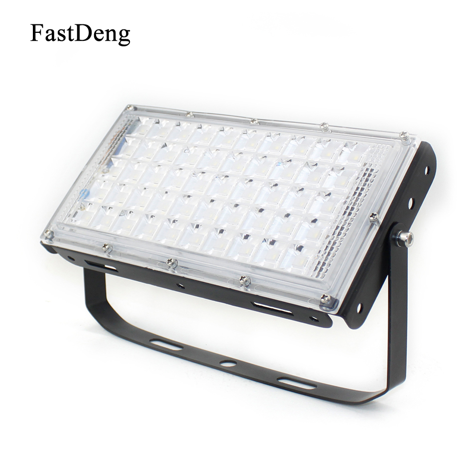 LED Flood Light Diamond Outdoor Waterproof Floodlight 200-240V Aluminum 5730SMD 50W Led Spotlight Outdoor Garden Searchlight
