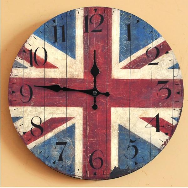 Retro British Flag Arabia Digital Clock Home Decoration