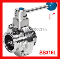 Real Air Pressure Regulator for Vaporizador New Arrival 1 Ss316l Stainless Steel Sanitary Manual Tc Butterfly Valve