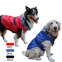 Pets Winter Clothes Puppy Dog Warm Jacket Fleece inside Big Large Dogs Ski vest Fur Collar XS 3XL
