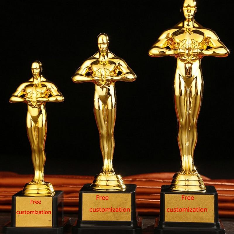 9ed76bed8 Customized Oscar Trophy PC Academy Sports Souvenirs Litter Golden Oscar  Awards Man