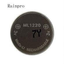 Rainpro 1 pz/lotto 3v Li Ion batteria ml1220 1220 ricaricabile Batteria delle cellule della moneta 3V batteria