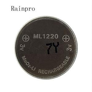 Image 1 - Rainpro 1 pz/lotto 3v Li Ion batteria ml1220 1220 ricaricabile Batteria delle cellule della moneta 3V batteria