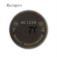 Rainpro 1 stks/partij 3v Li Ion batterij ml1220 1220 oplaadbare Batterij 3V knoopcel batterij