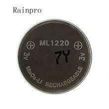 Rainpro 1 sztuk/partia 3v akumulator litowo jonowy ml1220 1220 akumulator 3V bateria ogniwowa monety