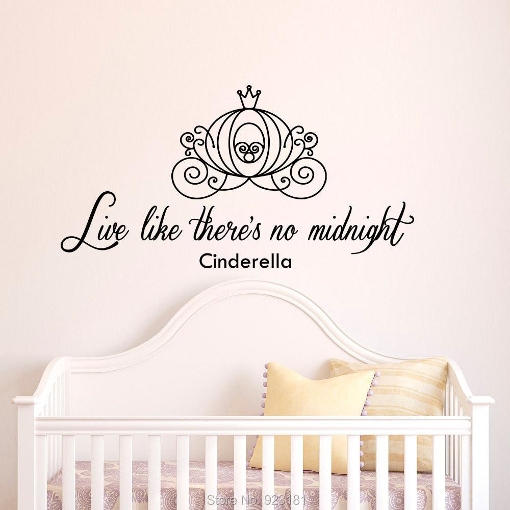 Online Get Cheap Cinderella Stickers Aliexpress – Cinderella Bedroom Decor