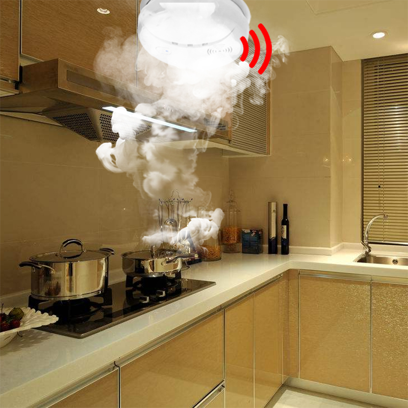 Kitchen Smoke Detector Sink And Faucet Sets Daytech Alert Sensor Fire Alarm 85db Battery Powered For Home Mall Hotel Restaurant Office 1pcs In From