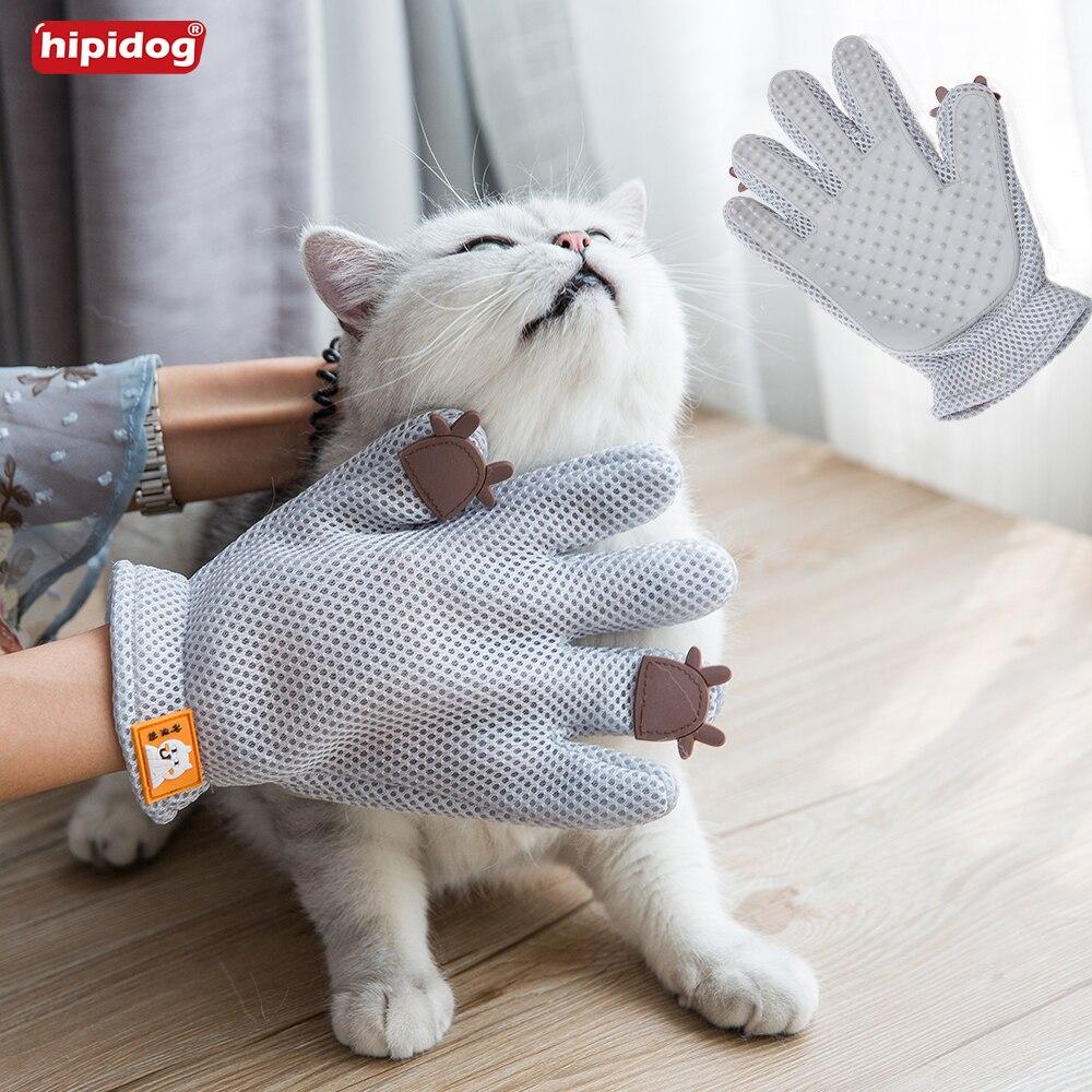 Hipidog Touching <font><b>Cat</b></font> <font><b>Dog</b></font> Fur <font><b>Glove</b></font> Hair Removal <font><b>Cleaning</b></font> Shower <font><b>Bath</b></font> Massage Brush Comb Hand Shape Comb Pet Supply Grooming <font><b>Tool</b></font>