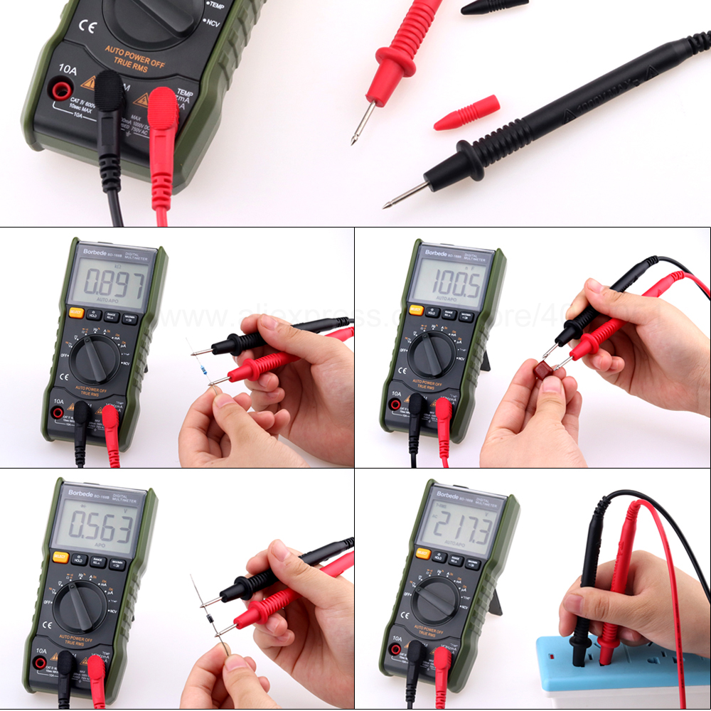Image 5 - Borbede Digital Multimeter DC AC Capacitance Resistance Square wave output/Temperature Tester 6000 count-in Multimeters from Tools