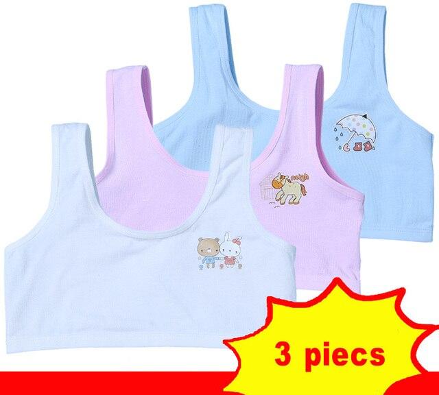 Children Training Bra Teenage Girl Sports Bras Cotton Underwear Puberty  Young Girls Small Bras For Baby Girls Clothing bb1b8f37d4c9