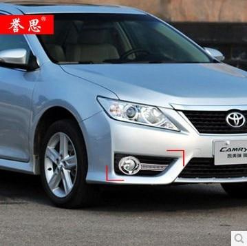 ФОТО Hireno Car LED DRL Waterproof ABS 12V Daytime Running Lights for Toyota Camry 2012-13 Fog lamp 2PCS
