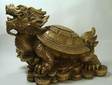 0 lucky Chinese handwork Bronze Fengshui Dragon Turtle Statue statue statue dragon statue bronze - title=