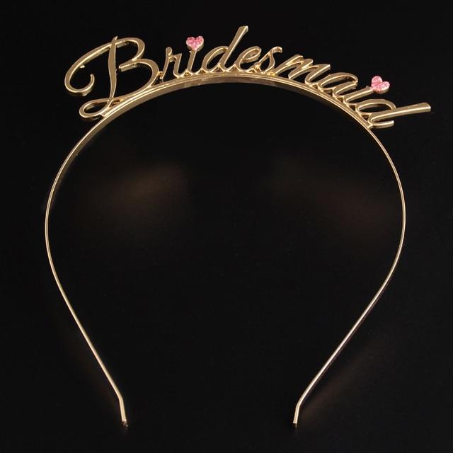 Team Bride To Be Bridesmaid Bride Souad Tiara Crown Hen Headband Bachelorette  Party Wedding Bridal Engagement DIY Decoration 08ac64a520a4