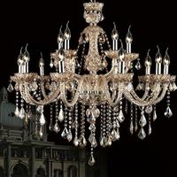15 Lights Champion Color Crystal Chandelier Lustres De Teto Lamparas Colgantes 110 220v E12 14 15