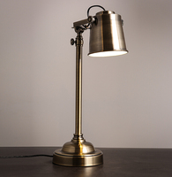 American Country Industrial Vintage Loft Style Classic Table Light Fixtures Study Bedroom Table Lamp
