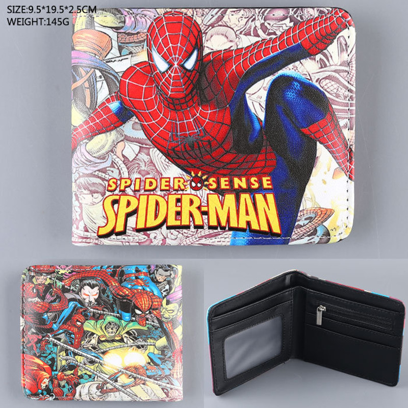 Hot Movie Superman Series Anime Wallet The Avengers Super Hero Wallet For Boys Girls Cartoon Purse Bilfold Short Supermen Wallet 2016 new arriving pu leather short wallet the price is right and grand theft auto new fashion anime cartoon purse cool billfold