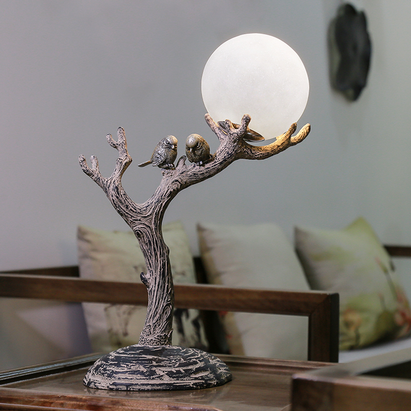 Classic resin Bird study table lights decorative lighting lamp personality art bedroom living room lights bedside desk lamps ZA