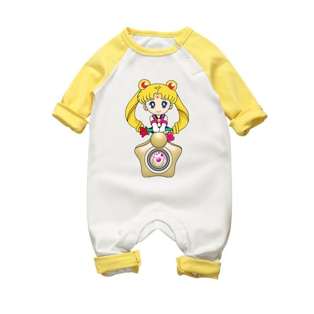 Barboteuse en coton Style dessin animé | Vêtements pour bébés garçons et filles, combinaisons pour tout-petits, salopettes pour nouveau-nés, manches longues