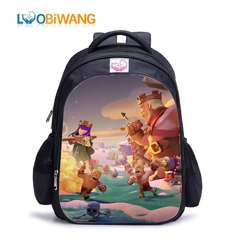 LUOBIWANG 2019 COC Printing School Backpacks For Teenager Boys And Girls Children's Waterproof School Bags For Kids Plecak