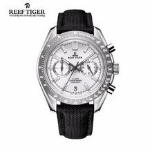 2017 Récif Tigre/RT Mens Designer Sport Montres avec Veau Sangle En Nylon 316L En Acier Lumineux Chronographe Montre RGA3033
