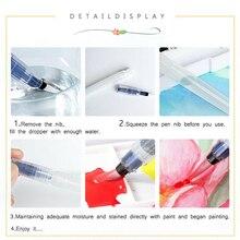 1pcs/3pcs/6pcs Water Color Brush Refillable Pen Watercolor Color Drawing Art Supply