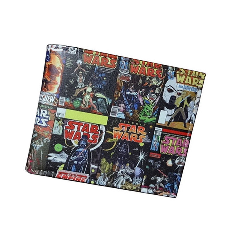 Comics Star Wars Wallets High Quality Leather Purse Cartoon Anime Star-war Gift Money Bags Men Women Dollar Price Short Wallets fashion animation joker wallets casual leather gift purse no zipper dollar price money bags men women standard short wallet