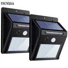 цена на Outdoor 20 LED Solar Powered Motion Sensor Garden Fence Patio Security Wall Waterproof Light Lamp