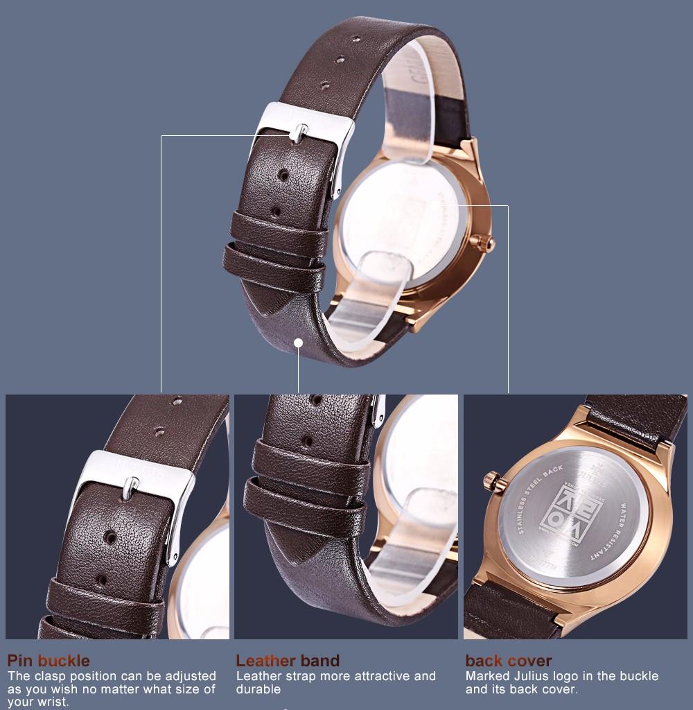 Julius Men Watch Stainless Steel Band Analog Display Quartz Wristwatch (7)