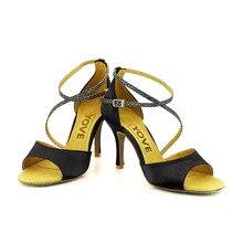 YOVE Dance Shoe Satin Women's Latin/ Salsa Dance Shoes 3.5″ Slim High Heel More Color w123-20