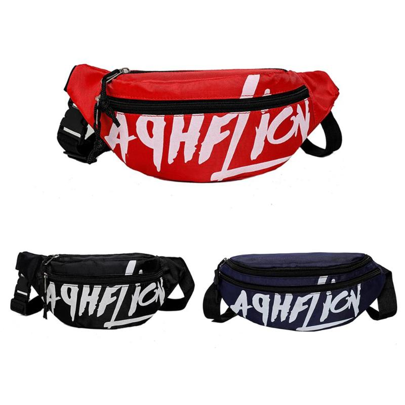 Waist Bag Women Couple Schoolbag Travel Hiking Bag Letter Collection Waist Pack Phone Bag Fanny Pack