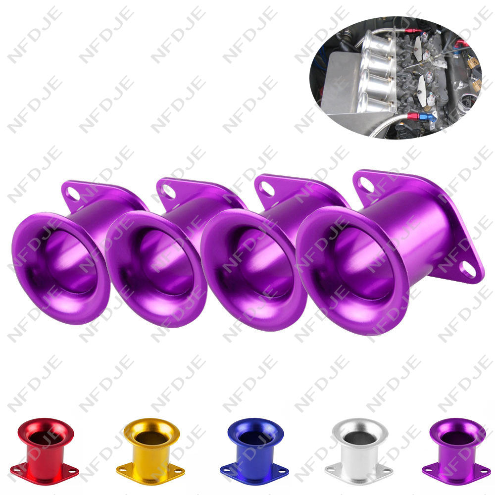 For AE86 for Corolla GTS Velocity Stack 20V 4AG ITB/ITBs Air Horn Funnel Silver EK#