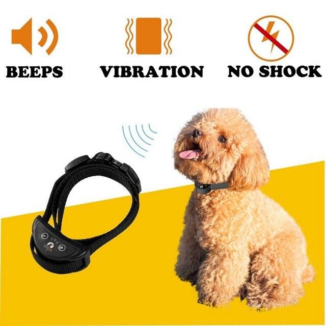 Collare anti corteccia per cani senza Shock adatto per piccoli animali sensibilità regolabile sicurezza automatica delle vibrazioni sonore